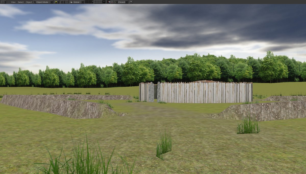Fort Necessity stockade and earthworks