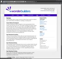WonderBuilders Website - Services