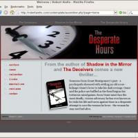 Web site, illustration for mystery author Robert Aiello