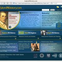 ExplorePAHistory.com interface and brand design